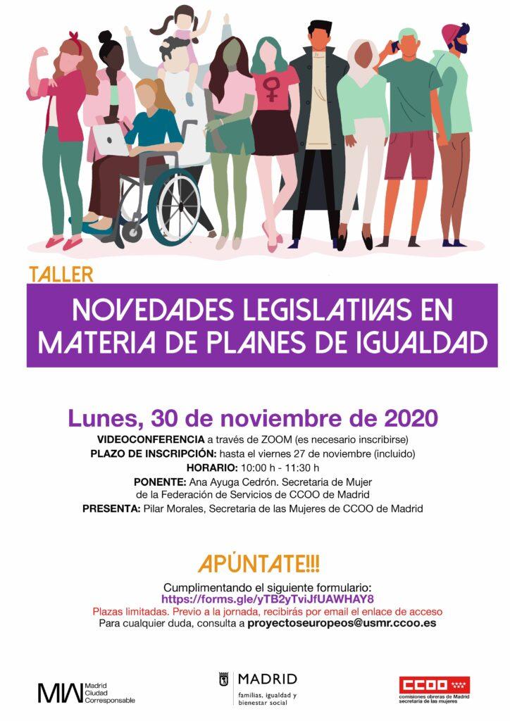 Cartel_Novedades_legislativas_en_materia_de_Planes_de_Igualdad_Taller_30_11_2020